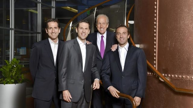 David Cordish, back, with sons Blake (left to right), Jon and Reed | Photo courtesy of The Cordish Companies