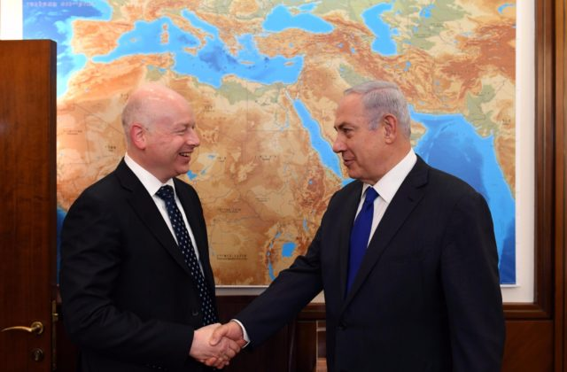 Greenblatt meeting with Netanyahu on Tuesday - photo by Haim Zach/GPO